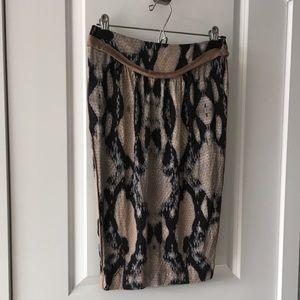 Just Cavalli by Robert Cavalli Snake Print Skirt